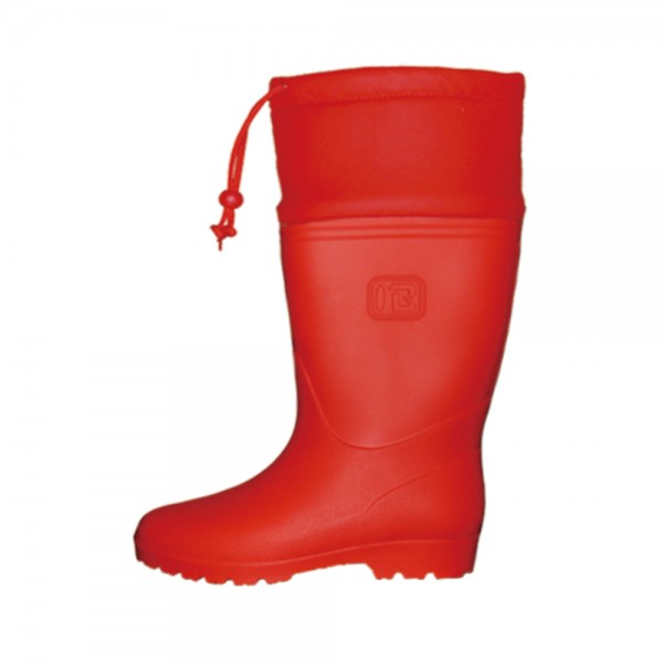 Rubber Boots Strap Red